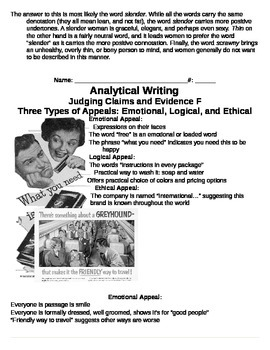 Writing An Analysis: Common Core Argument Writing