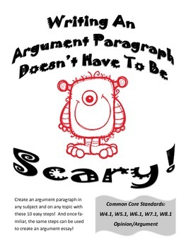 Writing An Argument Paragraph Doesn't Have To Be Scary!