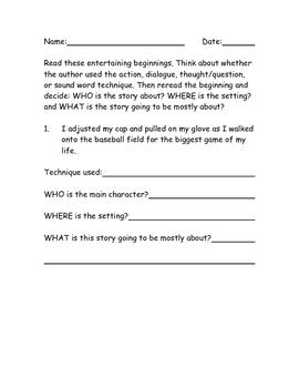 Writing An Interesting Beginning Part 3