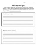 Writing Analysis Graphic Organizer - 6 Traits