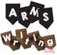 Writing Posters - ARMS & CUPS - Revise & Edit - Wood Chalk A-Z Bunting Flags