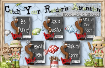 Writing Anchor Chart - Catch Your Reader . . . Hook, Line and Sinker
