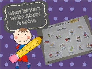 Writing Anchor Chart Freebie