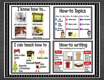 Writing Anchor Chart Posters in English & Spanish: Informational Writing