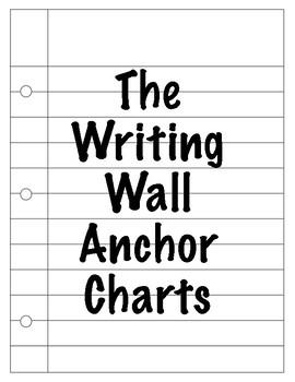 2nd Grade Writing Anchor Charts