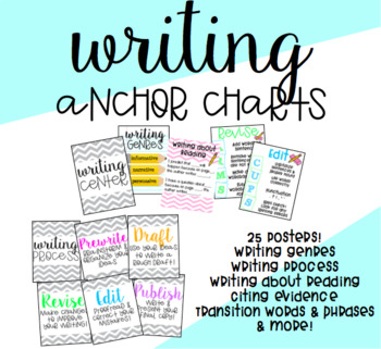 Writing Anchor Charts By Pencils And Passion | Teachers Pay Teachers