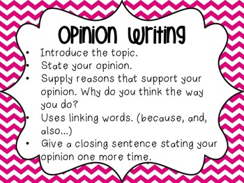 Writing Anchor Charts Opini... by Stellar Sweethearts | Teachers ...