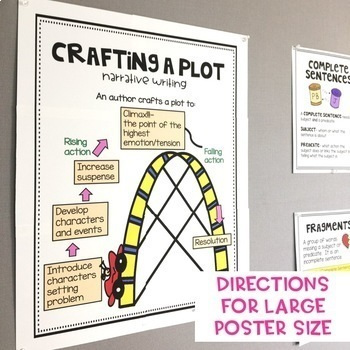 Writing Anchor Charts 80+ Writing Posters -2 sizes