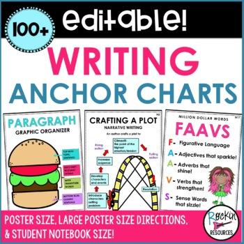 Writing Anchor Charts - 80+ Posters