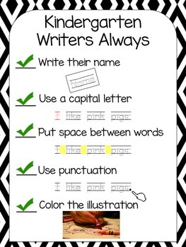 Writing Anchor Charts and Paper