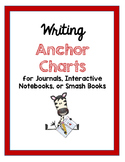 Writing Anchor Charts for Journals, Interactive Notebooks,