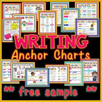 Writing Anchor Charts freebie