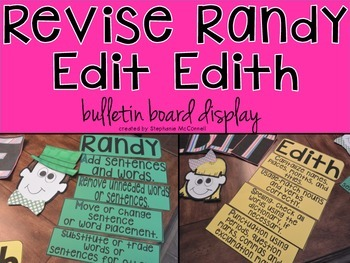 Writing Anchor Charts with Revise and Edit- Bulletin Board