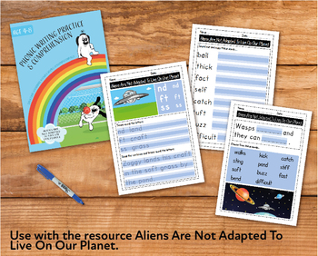 Writing And Comprehension Practice: Aliens Are Not Adapted To Earth (4-8 years)