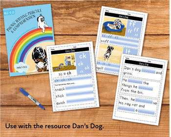 Writing And Comprehension Practice: Dan's Dog (4-8 years)