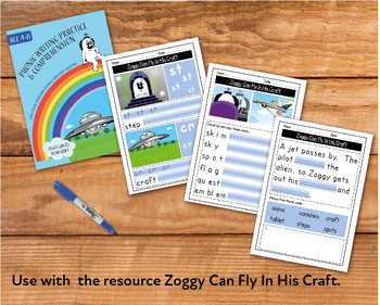 Writing And Comprehension Practice: Zoggy Can Fly In His Craft (4-8 years)