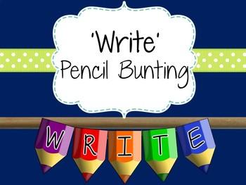 Writing Area Pencil Bunting