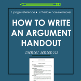 Writing Arguments with Examples & Mentor Sentences