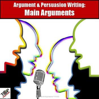 Persuasive Writing Main Argument Body Paragraphs