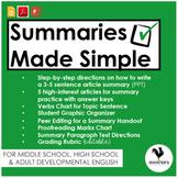 Writing Article Summaries {Digital & PDF} Distance Learning