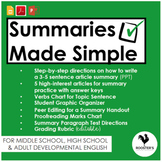 Writing Article Summaries {Digital & PDF} Distance Learning