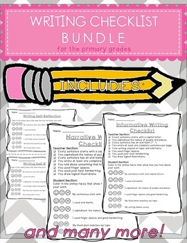 Writing Assessment Bundle for the Primary Grades