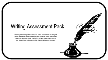 Writing Assessment Pack
