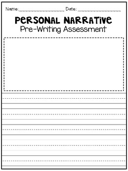 Writing Assessment Paper for Pre and Post Writing