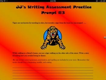 Narrative Writing Assessment Practice Prompt-3 (Tackling a Tiger)