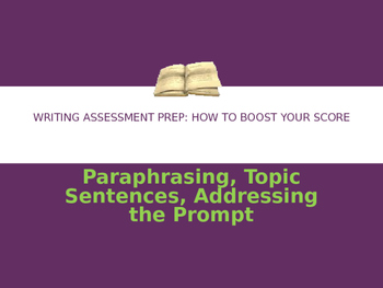 Writing Assessment Prep