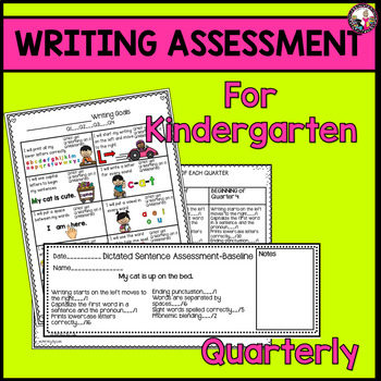 Writing Assessment for Kindergartners!