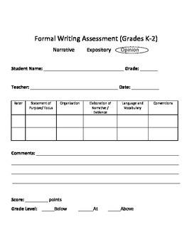 Writing Assessment opinion writing