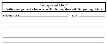 Writing Assignment - A Special Day