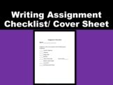 Writing Assignment Checklist