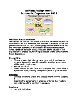 Writing Assignment:  Economic Depression 1929- Causes of the Great Depression
