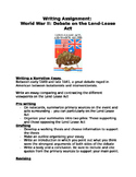 Writing Assignment: Lend Lease Act and World War II