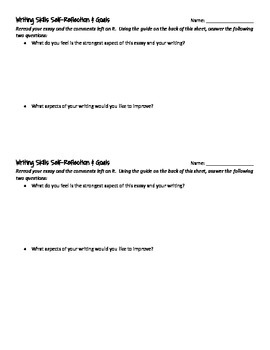 Writing Skills Self-Reflection