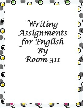 Writing Assignments for English