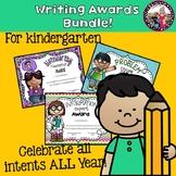 Writing Awards Bundle for Kindergarten Writers!