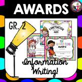 Writing Awards for 2nd Grade Editable