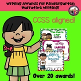 Writing Awards/Certificates for Kindergarten Narrative Writing!