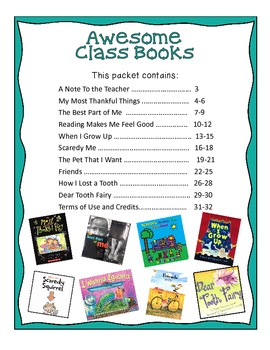 Writing Awesome Class Books
