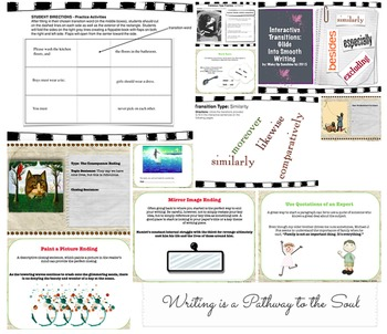Topic Sentence, Closing Sentence, and Transitions Bundle Pack