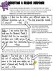 Writing Awesome Reader Responses! (Reader Response Activit