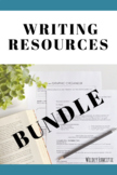 Writing BUNDLE: Brainstorm & Writing Graphic Organizer, Pe