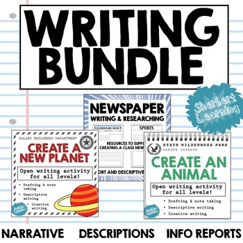 Writing BUNDLE! - Narrative, Descriptive and Information Report activities!