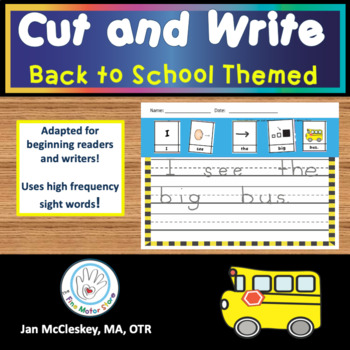 Writing: Back to School Cut and Write Sentences