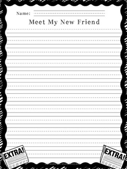 Writing Back to School:  Meet My New Friend