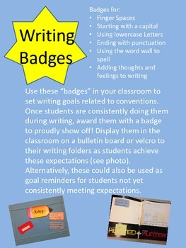 """Writing """"Badges"""" for Conventions Goals"""