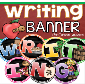 Writing Banner Classroom Decoration Bulletin Board Apple Theme